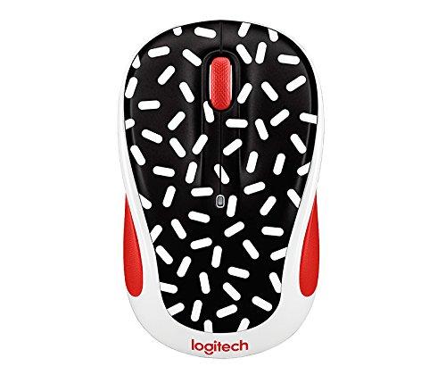 Logitech Party Collection M325c Wireless Optical Mouse, Memphis Black