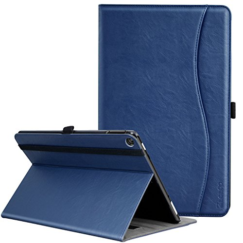 Ztotop Folio Case for Amazon All-New kindle Fire HD 10 Tablet (2017 Release, 7th Generation) - Smart Cover Slim Folding Stand Case with Auto Wake / Sleep,Navyblue