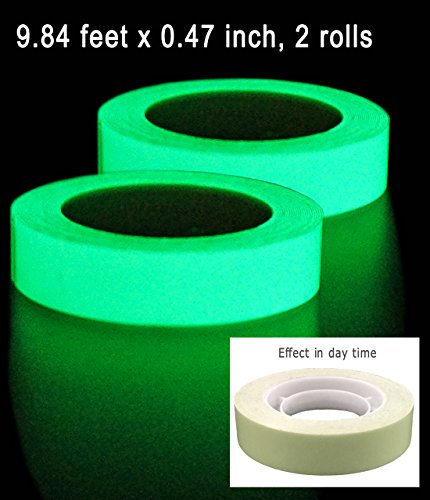 Photoluminescent Safety Tape - DUOFIRE 2Rolls Luminous Tape Sticker,9.84' Length x 0.47