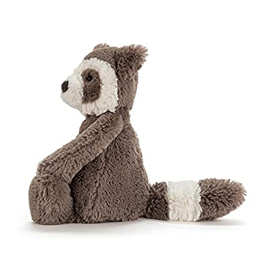 Jellycat Bashful Raccoon Stuffed Animal, Medium, 12 inches: Toys & Games
