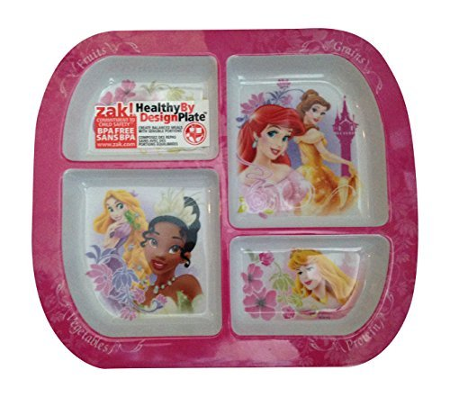 Disney Princess Divided Plates for Kids (Princess Divided Plate)
