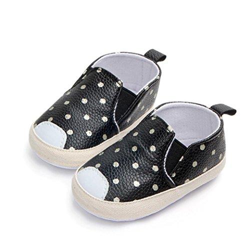 Malloom® Baby Mädchen Jungen Punkt Skate Erste Wanderer Neugeborene Weiche Soled Anti Beleg Schuhe =Polkapunkt Beschuht Weiche Untere Kleinkindschuhe Des Babys Schwarz