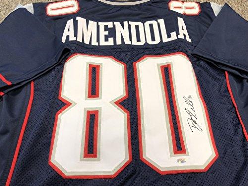 Danny Amendola Autographed Signed New England Patriots Blue Custom Jersey COA & Hologram