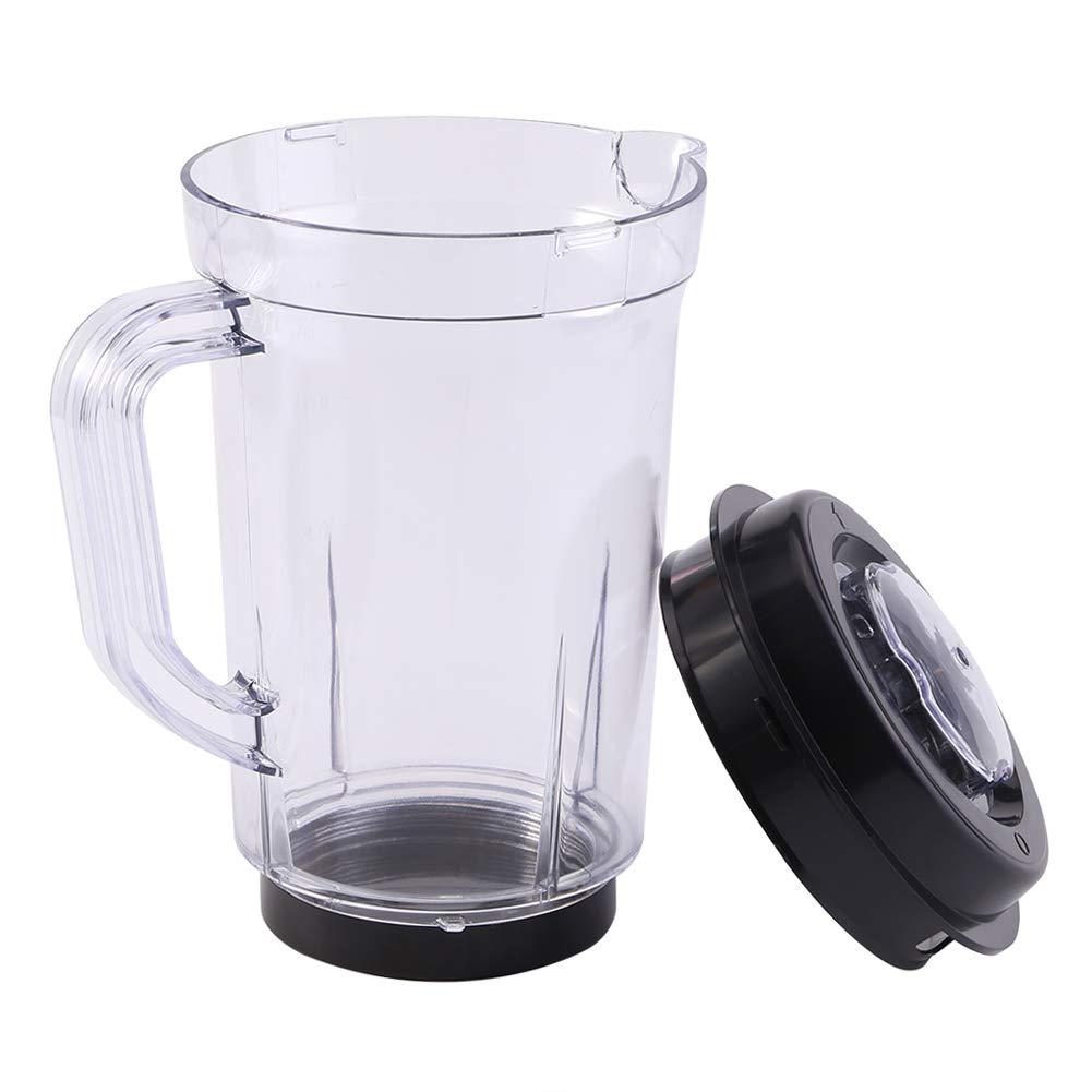Mezclador de jarra con tapa, licuadora licuadora Piezas de repuesto de plá stico sin BPA KitchenAid 1000ML Vaso de leche de agua titular para licuadora adapta original Bullet má gica Aramox