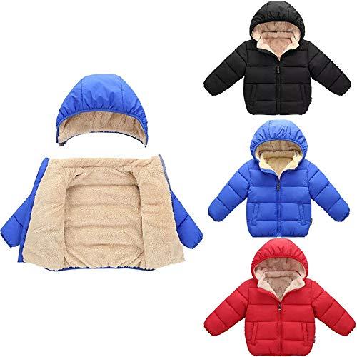 Rouge À D'hiver Épaississement Capuche Hiver Manteaux Mixte Chaud Manteau Garçon Veste Enfants Outwears Manadlian Fille Bébé Blouson RFAa0nq