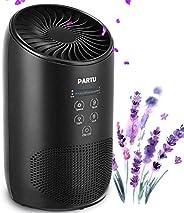 PARTU HEPA Air Purifier - Smoke Air Purifiers for Home with Fragrance Sponge - 100% Ozone Free, Lock Set, Elim