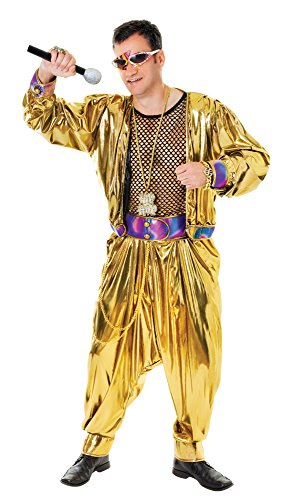 Bristol Novelty AC851 80's Video Super Star Costume, Black, 44-Inch