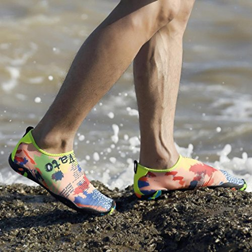 Zapatos Calcetines BeautyTop de Unisex Piel Playa La Zapatos descalzo Para Acu wtwFq1d