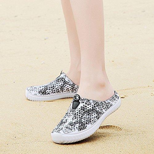 Sunmoot Beach Clog Shoes Slip On Garden Footwear Water Bash Womens Summer Casual Slippers Flip Flops Black by Sunmoot (Image #2)
