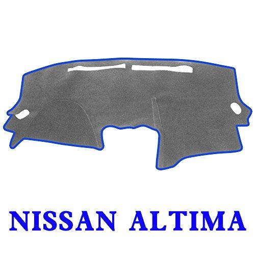 JIAKANUO Auto Car Dashboard Dash Board Cover Mat Fit for Nissan Altima 2007-2012 (Gray-Blue) MR029