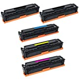 HI-VISION HI-YIELDS ® Compatible Toner Cartridge Replacement for Hewlett-Packard (HP) CE410A CE411A CE412A CE413A (2 Black, 1 Cyan, 1 Yellow, 1 Magenta, 5-Pack), Office Central
