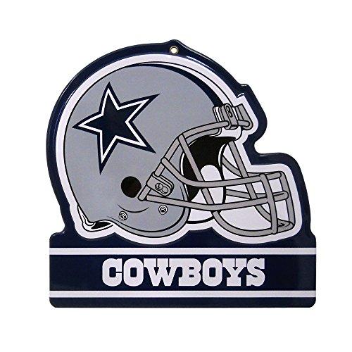 """Party Animal Dallas Cowboys Embossed Metal NFL Helmet Sign, 8"""" x 8"""""""