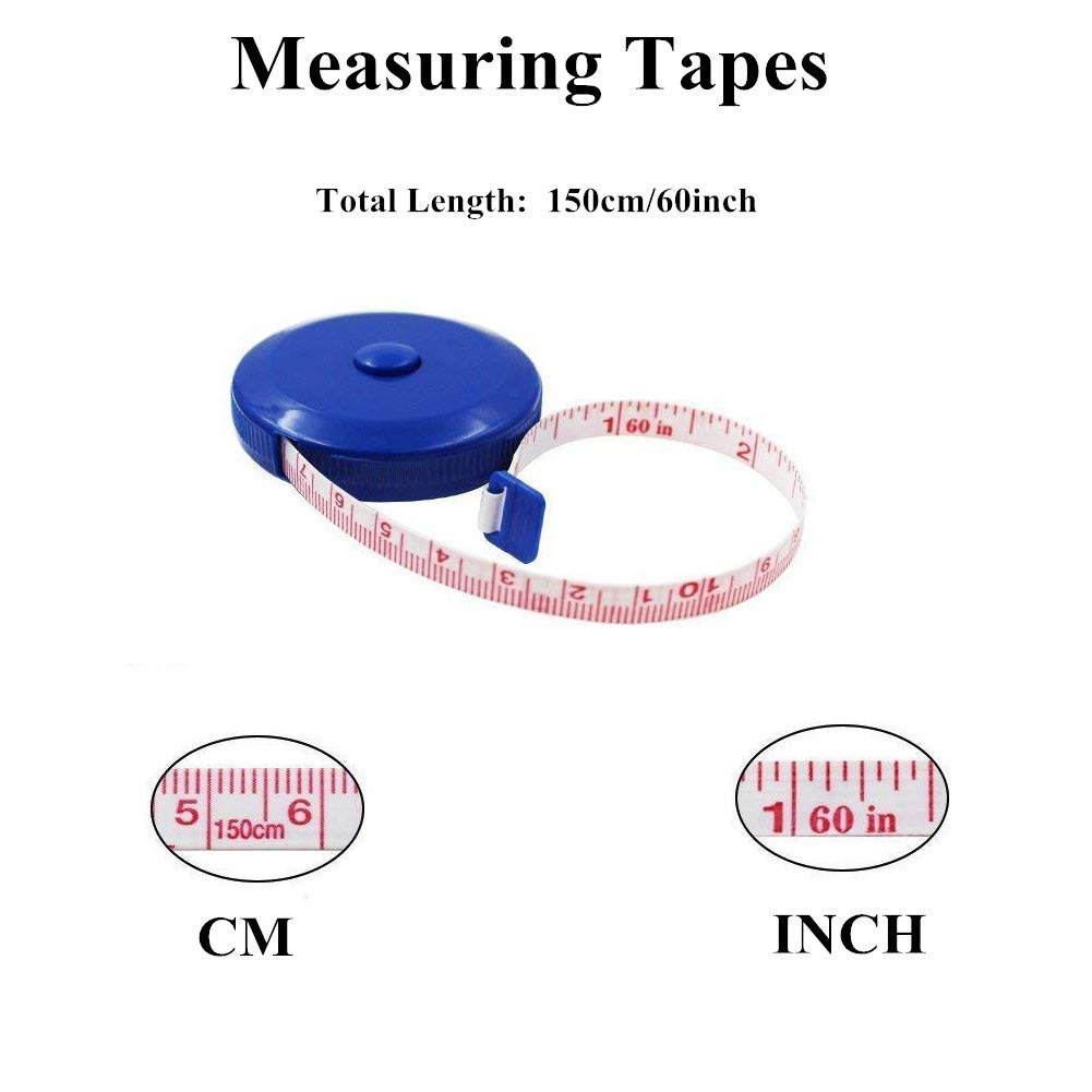 "Mannli Retractable Measuring Tape Sewing Dressmaking Flat Cloth Ruler 1.5M//60/"" Soft Tape Measure Pack of 6 Tailoring"
