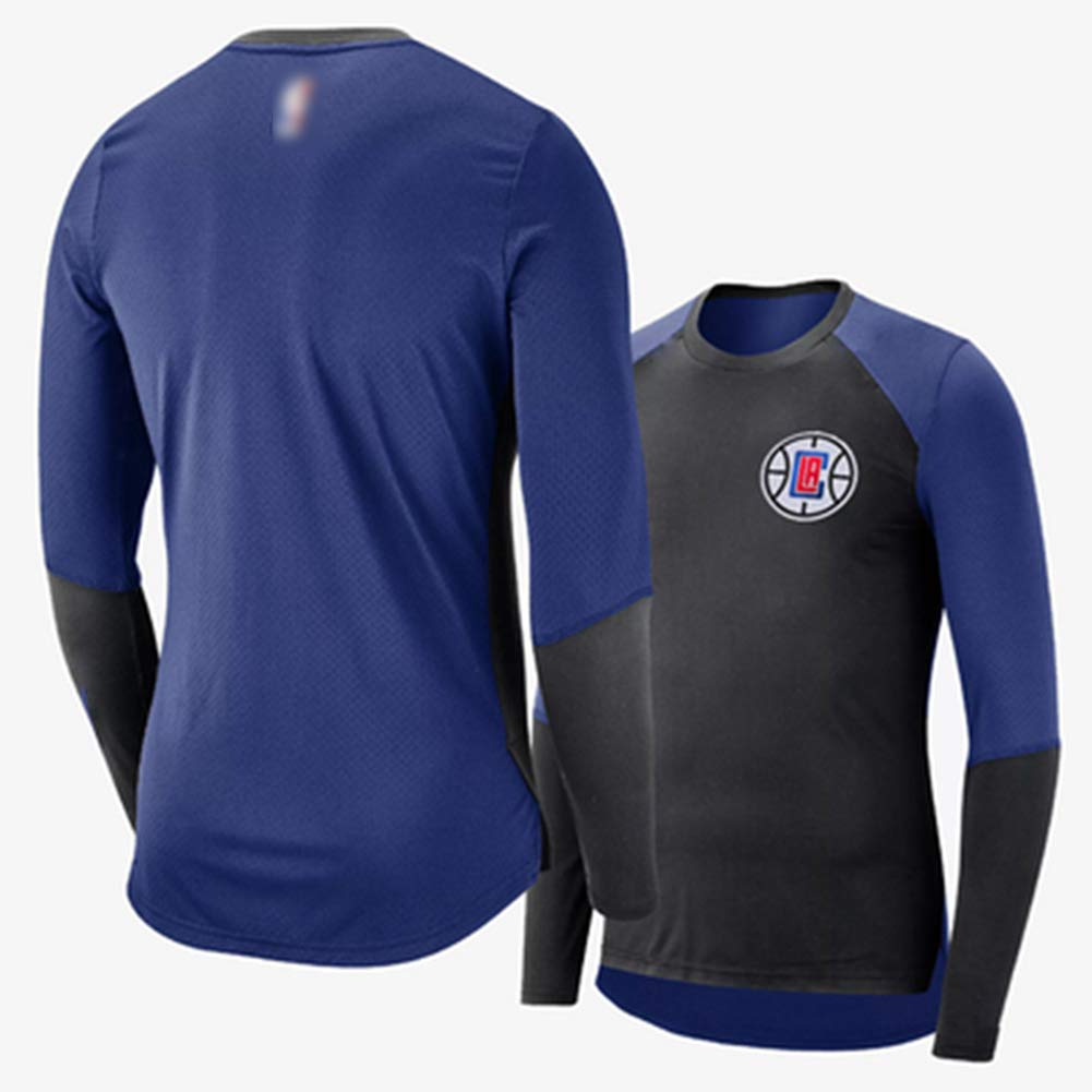 HS-QFQ Los Angeles Clippers Medias De Tocar Fondo Baloncesto Manga Corta Camiseta Chaleco El Nuevo Jersey Oto/ño Invierno Ropa De Deporte,S163~175CM