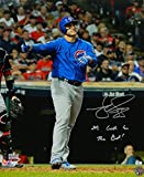 Matt Szczur Signed Chicago Cubs Anthony Rizzo 2016 World Series HR Using Szczurs Bat 16x20 Photo with Its Gotta Be The Bat - Certified Authentic