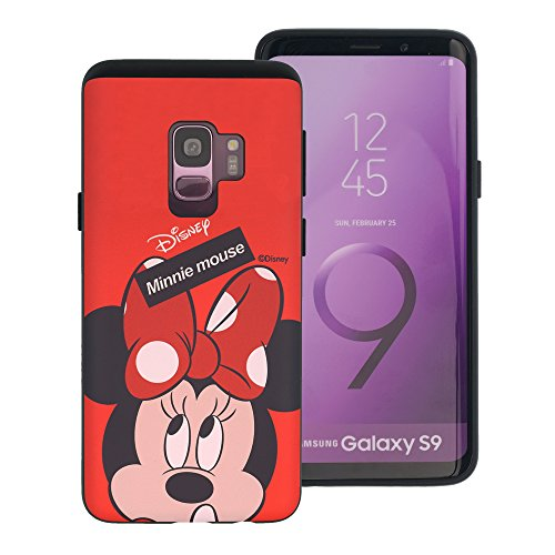 Galaxy S9 ケース Disney Minnie Mouse ディズニー ミニーマウス ダブル バンパー ケース/二層構造 TPUケース + PCカバー/デュアルレイヤー 耐衝撃 薄型 衝撃吸収/スマホケース おしゃれ 【 ギャラクシー S9 ケース (5.8