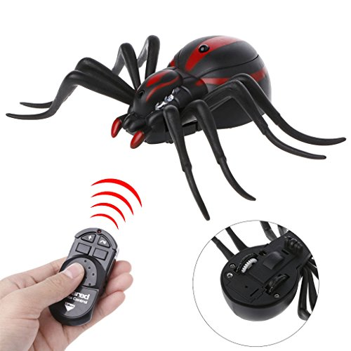 Coldgirl Remote Control Spider, Realistic RC Spider, Prank Insect Trick Toy