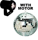Cali Lite Disco Lighting Package (Light, 6'' silver mirror ball, Color lenses and motor)
