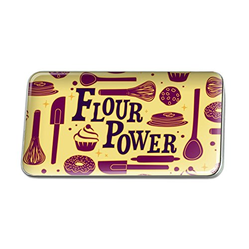 GRAPHICS & MORE Flour Power Baking Baker Chef Cookie Rectangle Lapel Pin Tie Tack