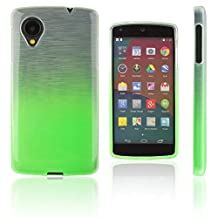 Xcessor Transition Color Flexible TPU Case for LG Nexus 5. With Gradient Silk Thread Texture. Transparent / Lucid Green