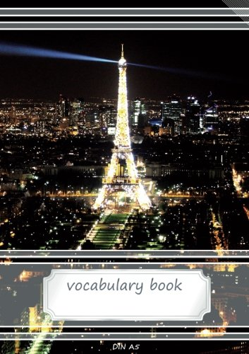 Vocabulary Book DIN A5: 2 columns, 70 lined pages, 21 rows each page - 5,83