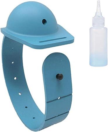 4Pcs Pulsera Dispensadora de Desinfectante de Manos Port/átil Dispensador de Desinfectante de Mano Pulsera Silicona Dispensador Recargable de Gel L/íquido con Botella Exprimible para Viaje Al Aire Libre