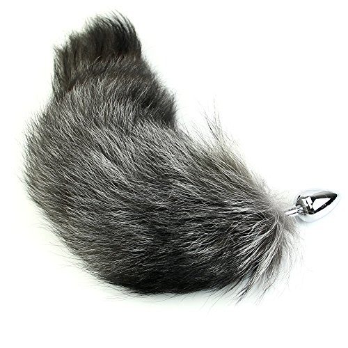 BUZHI Amal Plug with Soft Fox Tail Soft Aluminum Alloy Six-Toys for Women Men Cosplay