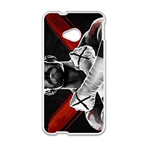 Happy WWE World Wrestling Entertainment CM Punk White Phone Case for HTC One M7