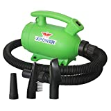 XPOWER B-55 Portable 2 HP Home Pet Grooming 2-in-1 Dog Force Hair Dryer