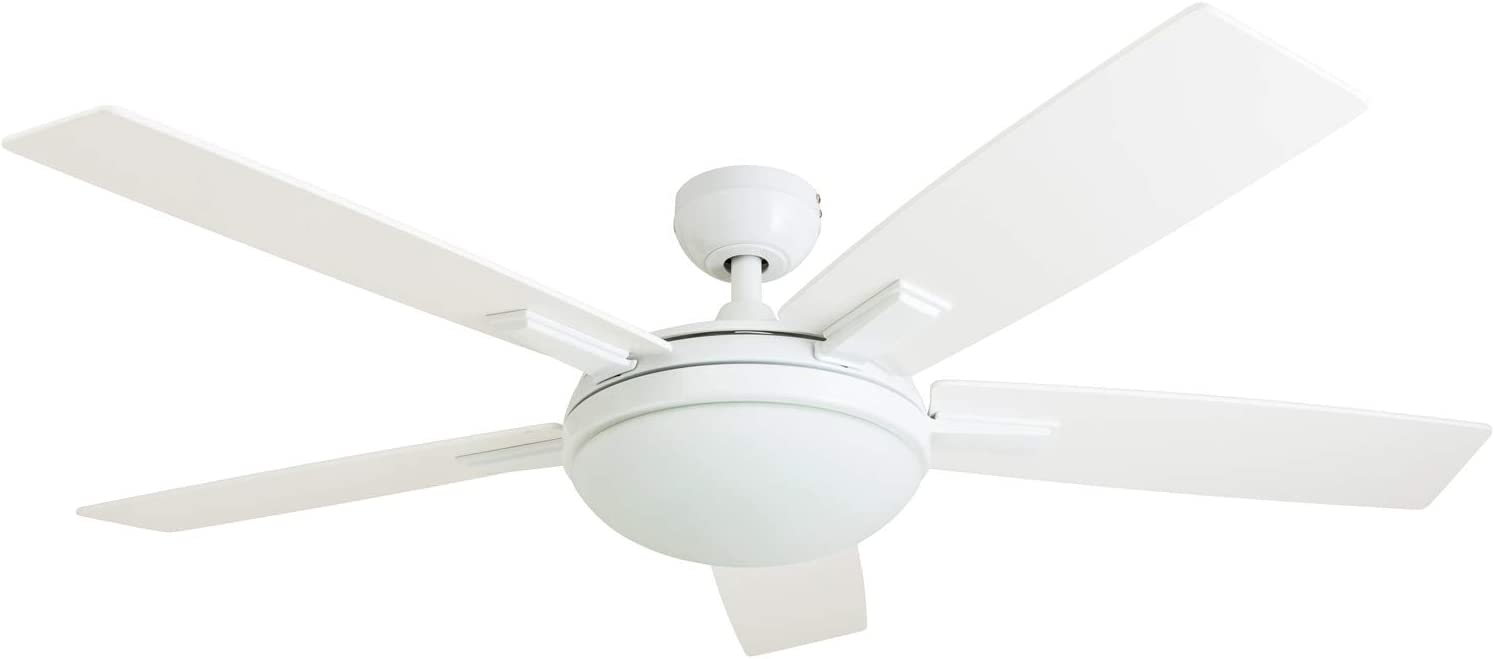 Prominence Home 51021 Emporia Contemporary Ceiling Fan with Remote, 52 , White