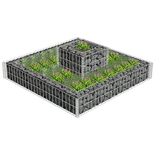 Flower Basket Gabion Stone Wire Baskets Garden Outdoor Plant Bed Planter by HomeSweet