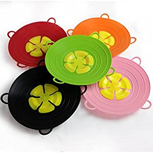 Altruism Cookware Lids 13 Inch Useful Multi-function Silicone Spill Stopper Lid Kitchen Utensils Pan Cooking Tools Flower Cookware Parts 29cm