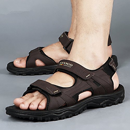 Classic Shoes Beach Casual Slippers Junsi Unisex slip Comfortable Sandals Business Brown Non ZxXqwpd