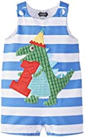 Mud Pie Baby Boys' Birthday Dino Shortall