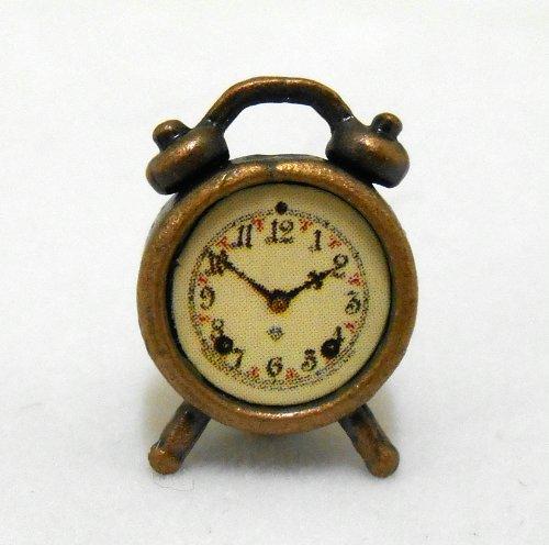 Dollhouse Miniature 1:12 Scale Antique Alarm Clock #G7002 (Clock Scale Alarm)