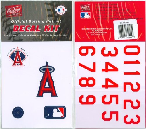 Authentic MLB Official Batting Helmet Decal Kit from Rawlings - Helmet Logo Decals