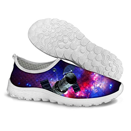 Pour U Conceptions Élégant Unisexe Femmes Et Hommes Galaxie Impression Mesh Léger Respirant Chaussures De Course Rouge 1