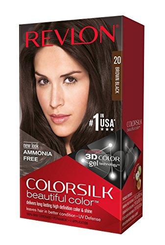 Revlon ColorSilk Hair Color, 20 Brown Black 1 ea(Pack for sale  Delivered anywhere in USA