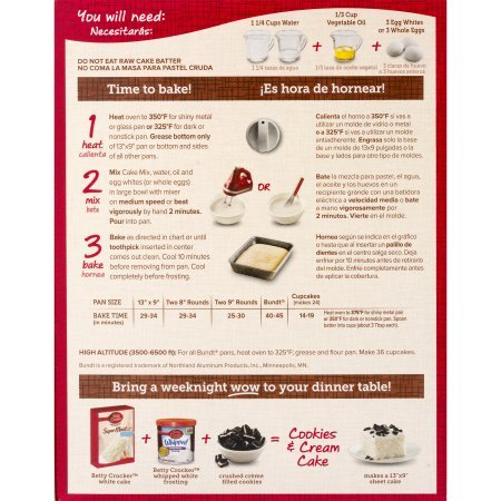 Amazon.com : Betty Crocker Super Moist White Cake Mix and Betty Crocker Rich & Creamy Vanilla Frosting Bundle - 2 of Each - 4 Items.