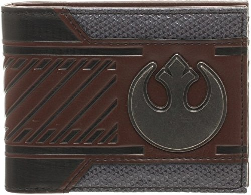 Star Wars Rebel Emblem Logo Mix Material Bi-fold Gift Boxed Wallet (Brown) ()