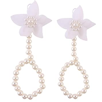 37faa3cc6 Amazon.com   FEITONG  2016 Cute Pearl Chiffon Barefoot Toddler Foot Flower  Beach Sandals Anklet (White)   Baby