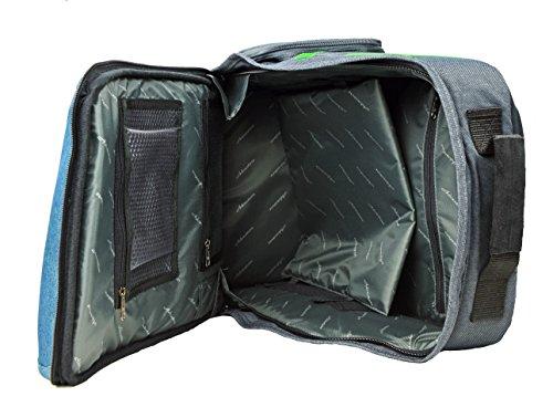 Schul-Rucksack Schultasche Typ ADVENTURE blau-grün - extrem leicht! bQ0rfl