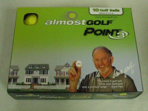 Almost Point3 10 Golf Balls (Restricted Flight) Yellow Practice Balls NEW, Outdoor Stuffs