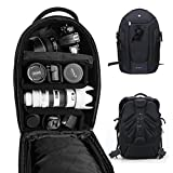 DSLR Camera Backpack Gadget Bag with Dividers,PROWELL Water Resistant Travel Outdoor Backpack for Cameras,Lens,15'' Laptop