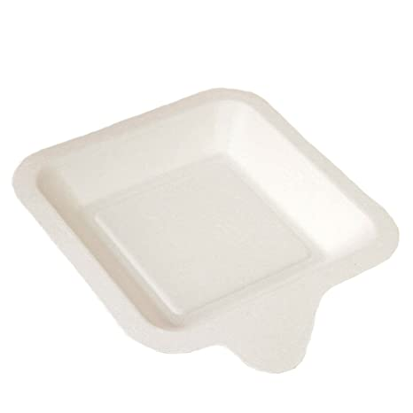 onesall cuadrado blanco plato para tartas de papel, 100 cuenta, 10 cuenta por bolsa: Amazon.es: Hogar