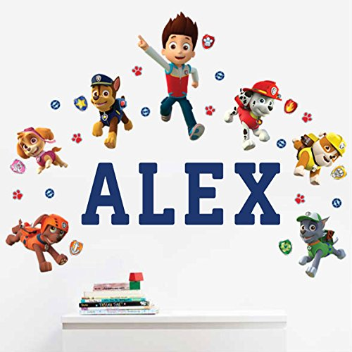 Personalized Paw Patrol Kids Name Wall Decal by Oliver's Labels (Image #1)