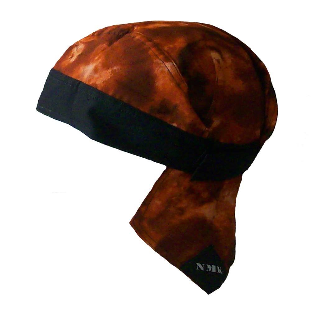 Rusty BLK Scuba Gear NMK Doo rag du rag Skull Cap Headwrap Microfiber Sweatband Hook and Loop Closure