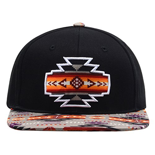 Embroidered Print Hat - 7