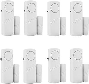 Window Door Alarm Bell Wireless Home Security Alarm System Magnetic Sensor Burglar Alarm 8 PCS
