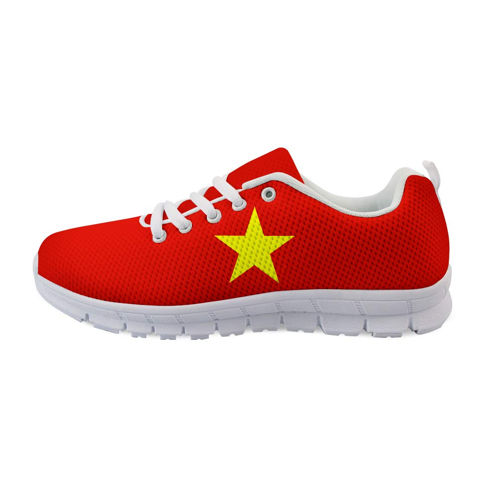 Owaheson Lace-up Sneaker Training Shoe Mens Womens Vietnam Flag